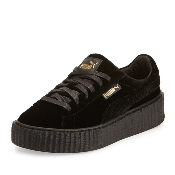 info for c23b3 bfdc0 Fenty by Rihanna Puma Creepers, Black & Gold acce